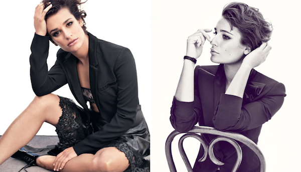 Lea Michele Rocks A Cropped Hairstyle For Marie Claire Us Coco S Tea Party