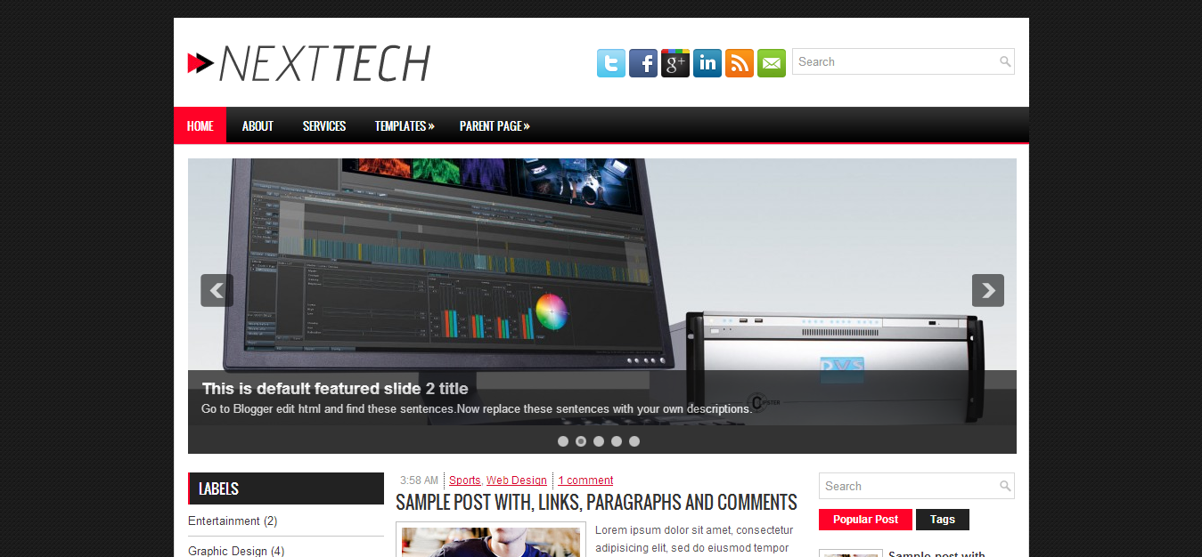 Nexttech Blogger Template | Cool Blog Templates | Premium Blogger ...