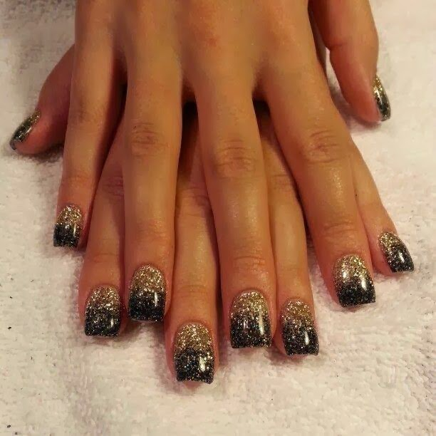 Nail Art Black Gold Silver: Nail art gold black silver zebra by ...