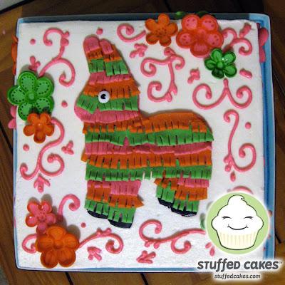 Piñata Baby Shower Cake