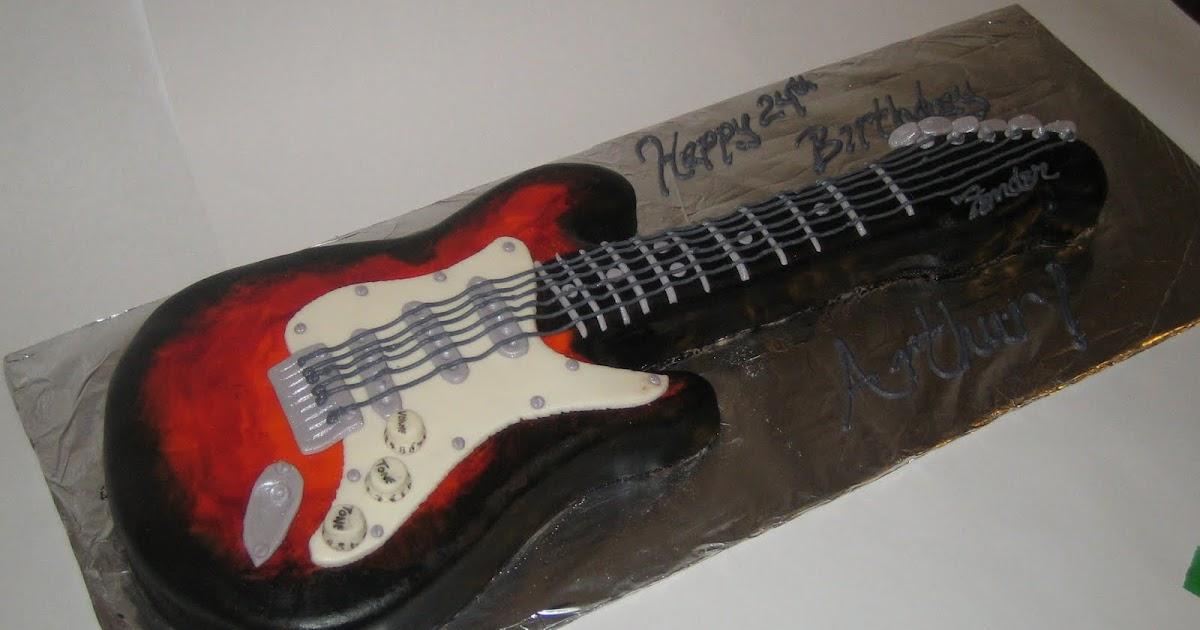 Sweet & Simple - Custom Cake Design: Guitar Cake!!
