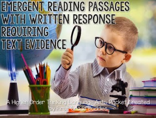 https://www.teacherspayteachers.com/Product/Emergent-Reading-Passages-with-Written-Response-Requiring-Text-Based-Evidence-1490745