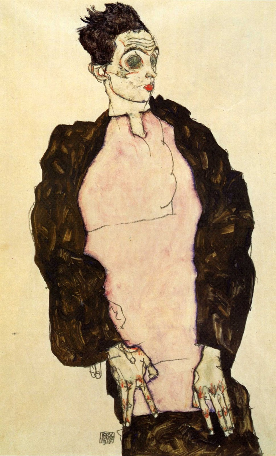 Sguardi notturni painting of the week autoritratto con for Egon schiele pittore