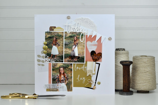 Product Playground: #scrapbooking video class on how to incorporate buttons and clear items on a scrapbooking layout. http://www.bigpictureclasses.com/classes/product-playground-buttons-clear-items