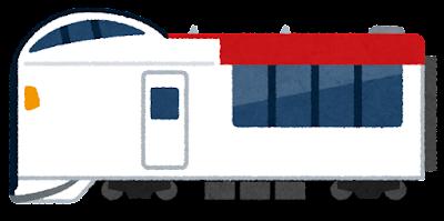 成田エクスプレスのイラスト(E259系)