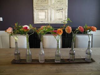 flowers by b: A Rustic Dining Room Table Centerpiece at ...