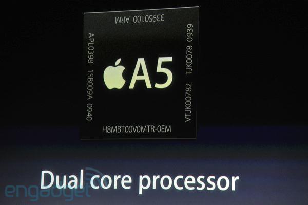 iPhone 4S com processador dual-core A5
