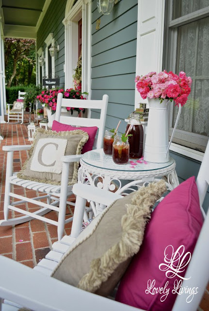 Summer Porch-Lovely Things-Weekly Blog Link Up Party-Treasure Hunt Thursday- From My Front Porch To Yours