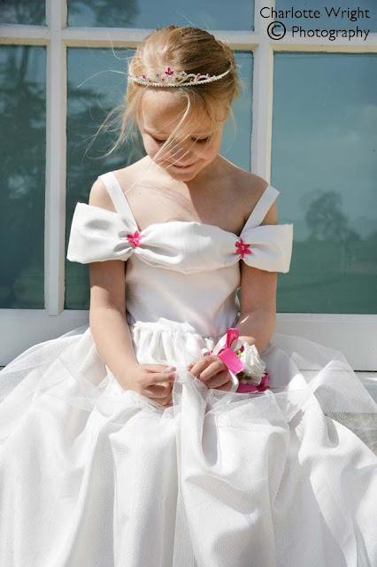 Flowergirl dress photoshoot for Village Brides the Long Compton bridal shop, Warwickshire