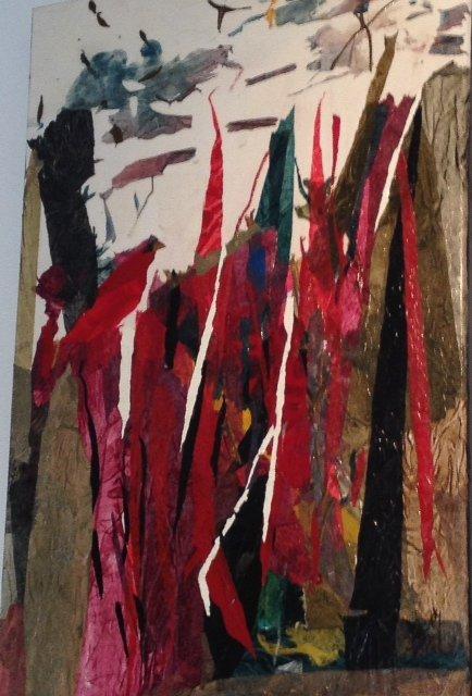 Canadian artist, June-Anne Reid, Collage, Drake River