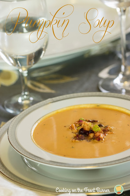 Pumpkin Soup with a Tasty Relish | Cooking on the Front Burner #soup #pumpkin