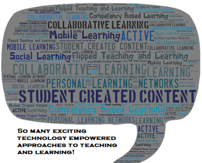 Conversation bubble with words about technology enabled learning