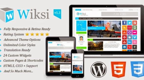 Wiksi – Responsive Magazine WordPress Theme