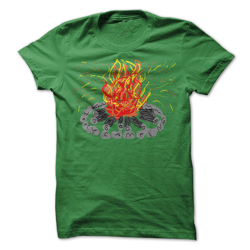 Green Happy Camper T Shirts