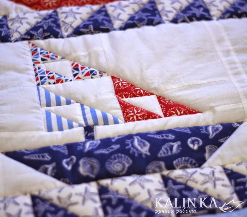 одеяло детское, квилт, кораблики, лоскутное одеяло для мальчика
