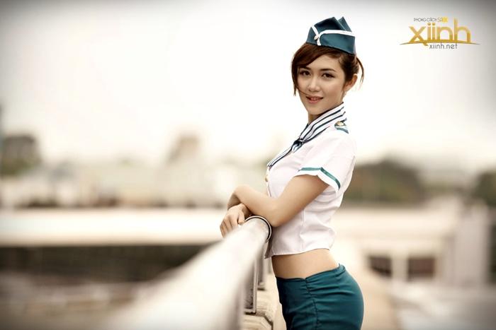 Nguyễn Thị Bích Nga - 9X Việt xinh đẹp trong đồng phục tiếp viên hàng không