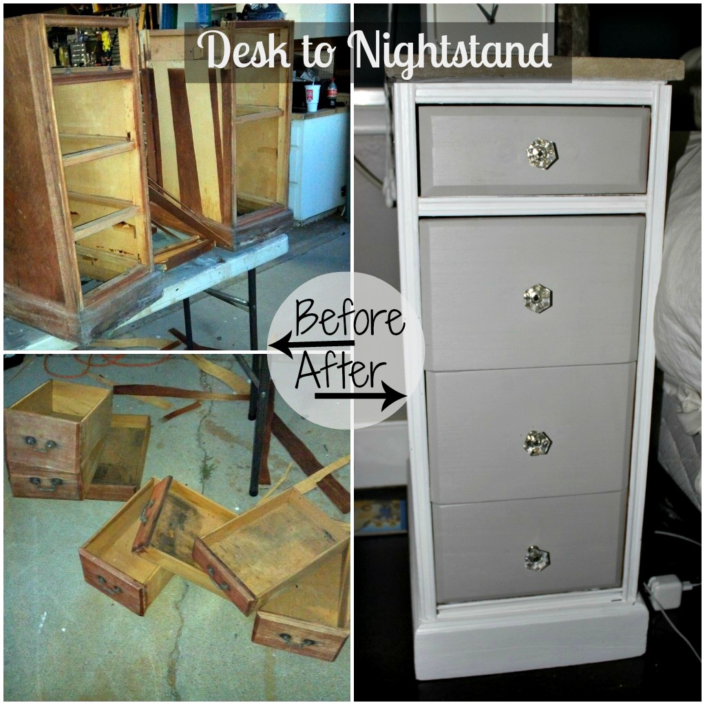 Look What Jeff Did Desk To Nightstands With Concrete Tops