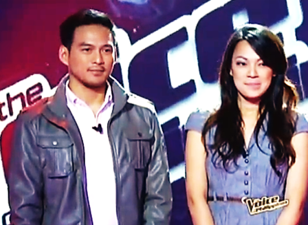 Guji Lorenzana and sister Grace - Team Apl, The Voice of the Philippines