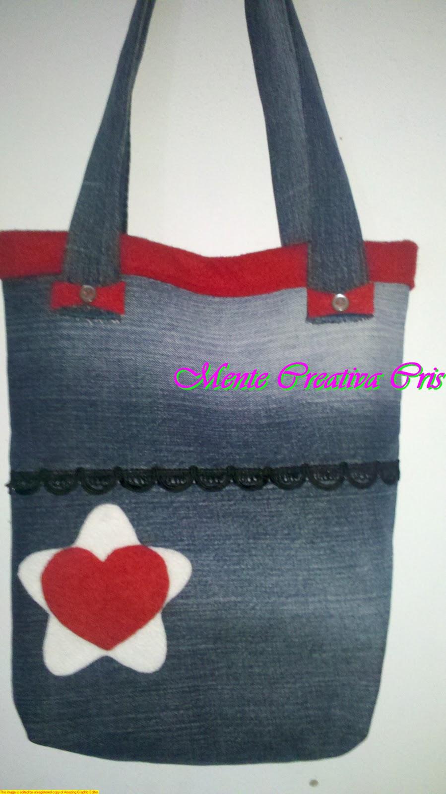 de mente creativa cris bolsos reciclados de jean
