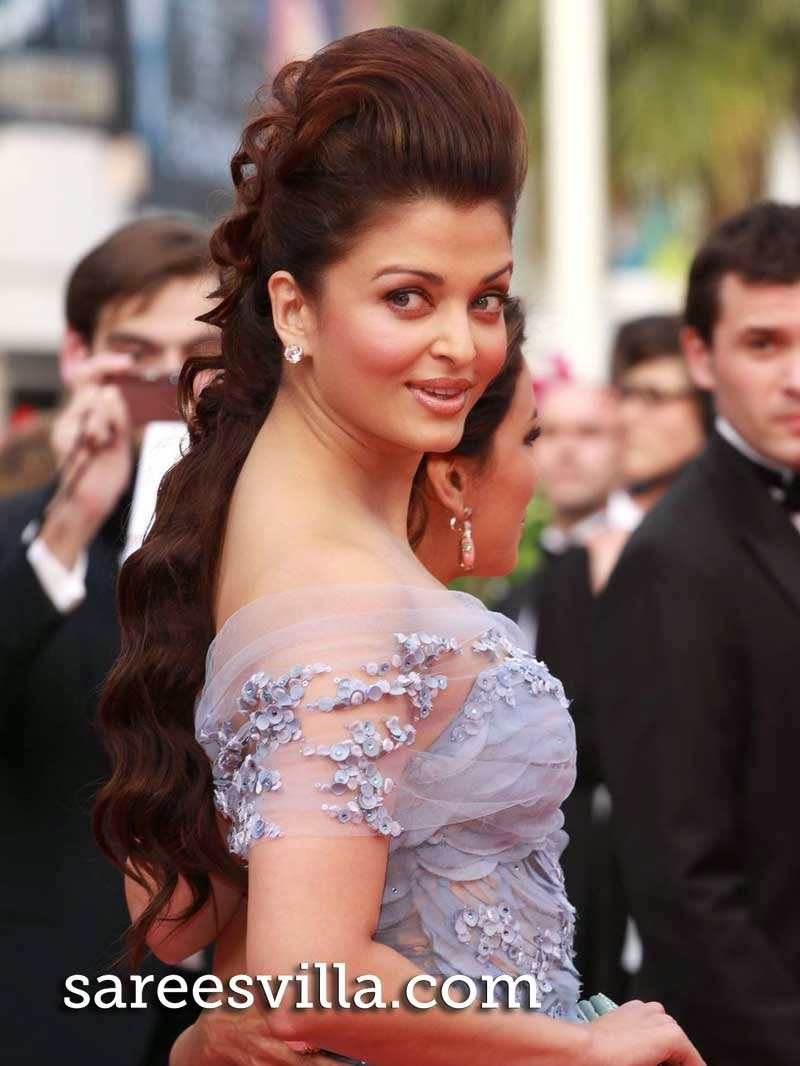 Aishwarya Rai Half Up Half Down Hairstyle