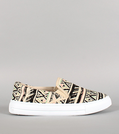 http://www.urbanog.com/Qupid-Tribal-Canvas-Slip-On-Sneaker_100_53864.html