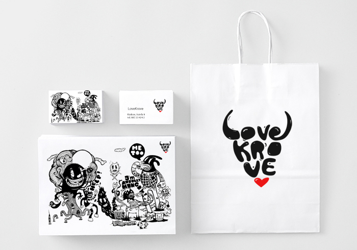 Love Krove branding, Krakow