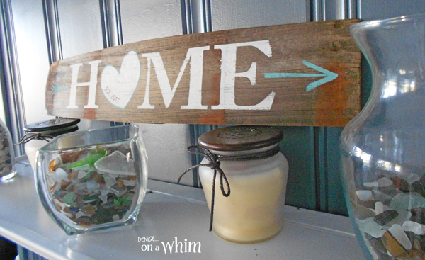 Home Sign from a Repurposed Wine Barrel | Denise on a Whim