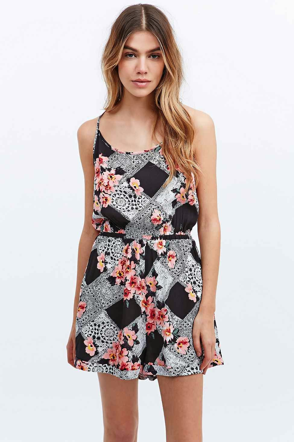 minkpink patterned playsuit