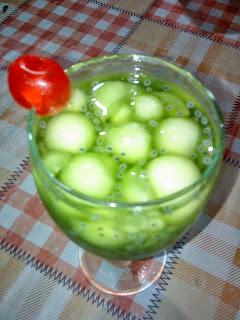 resep es buah melon