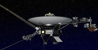 Artist impression, released by NASA, of the Voyager 1 spacecraft HOPD