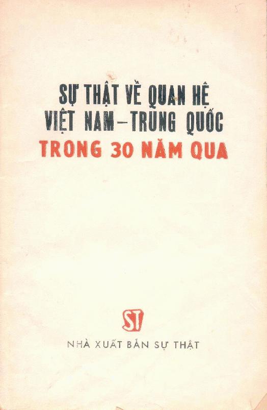 Sách trắng Việt - Trung (Download)