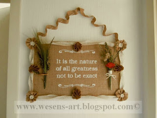 Burlap Sign     wesens-art.blogspot.com