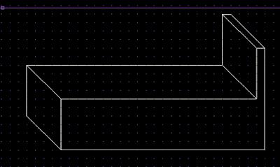 membuat gambar isometrik menggunakan cara grid dan snap