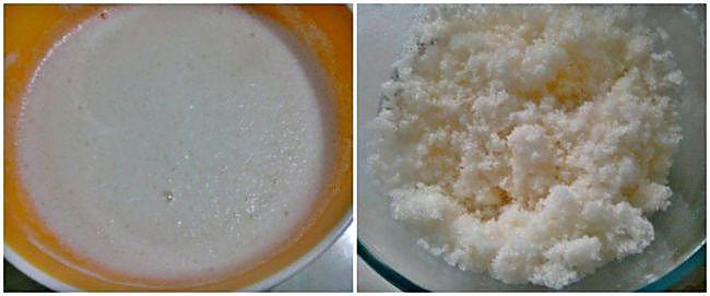 Preparación del sorbete de limón sin azúcar