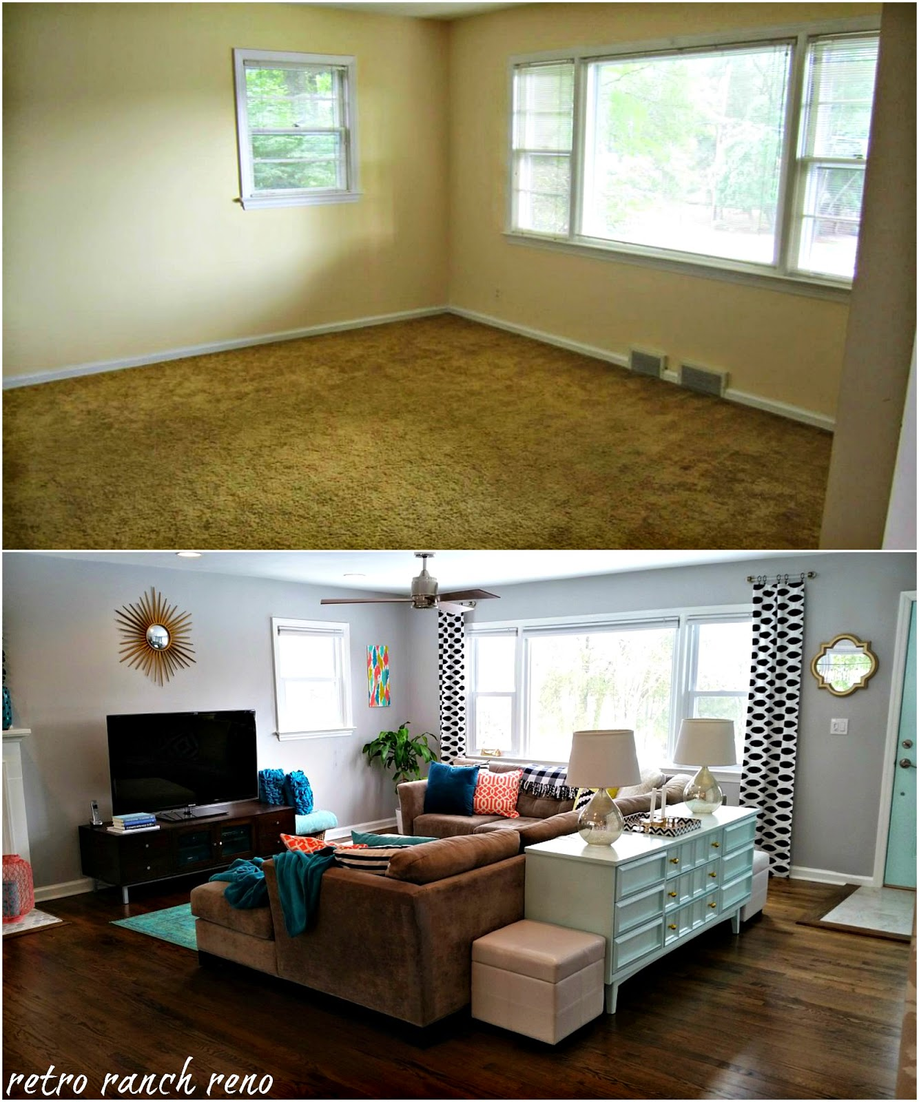 Living Room: Retro Ranch Reno: Our Rancher: Before & After