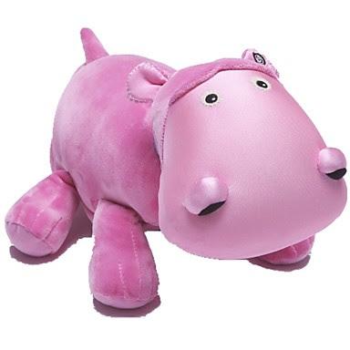 Peluche Hipopótamo Rosa Manta