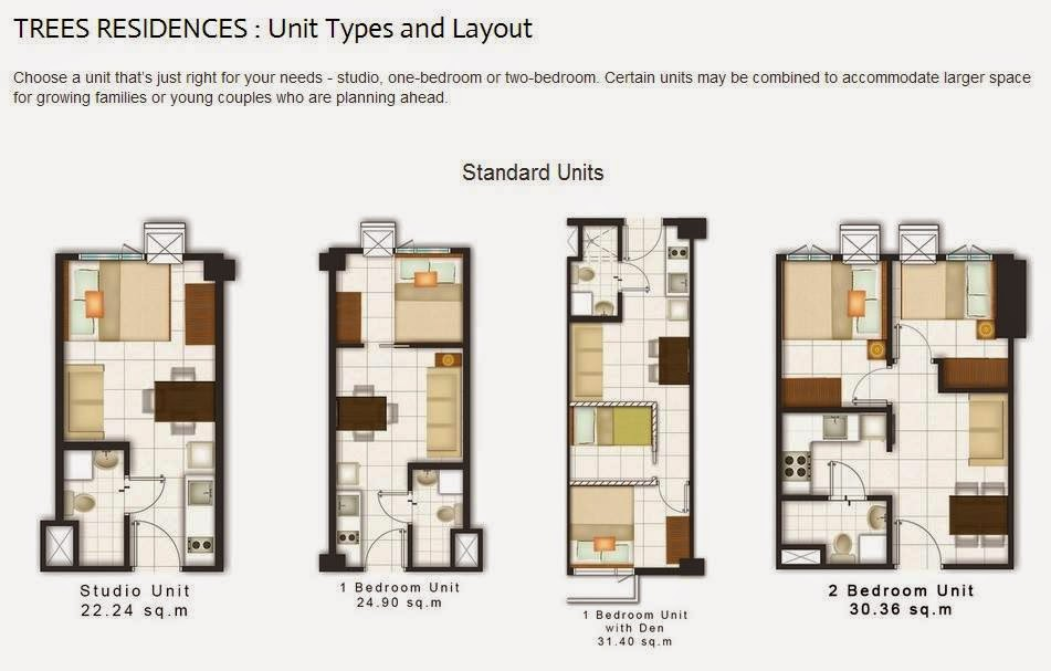 Image result for trees residences unit layout