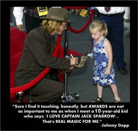 Touching Quote from Johnny Deep - Captain Jack Sparrow