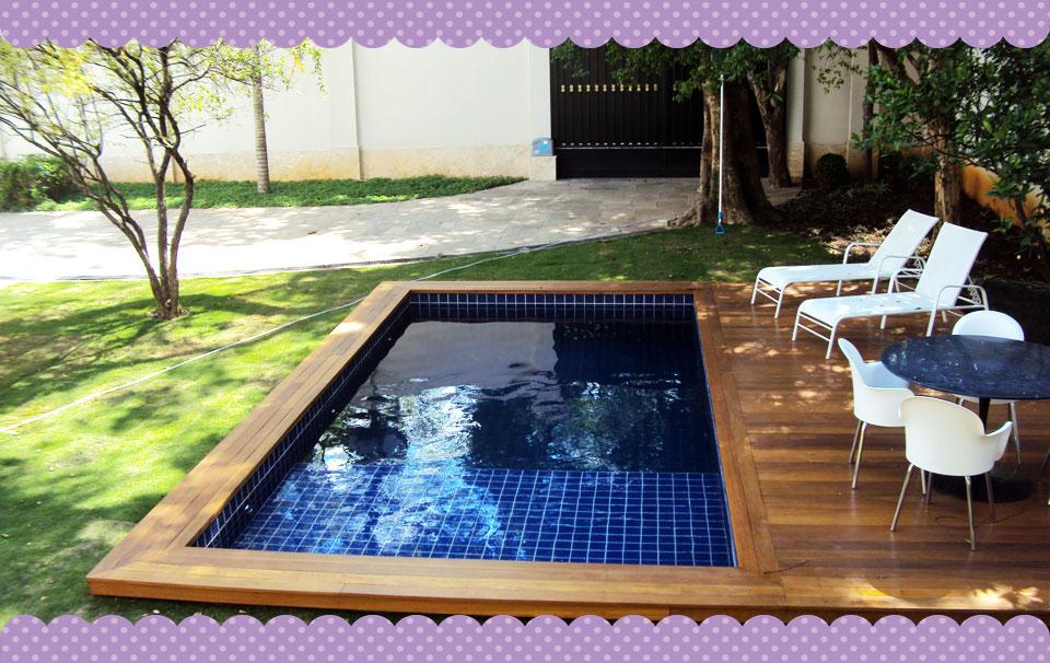 Uma casa com amor 20 piscinas para ambientes pequenos for Piscinas desmontables pequenas con depuradora