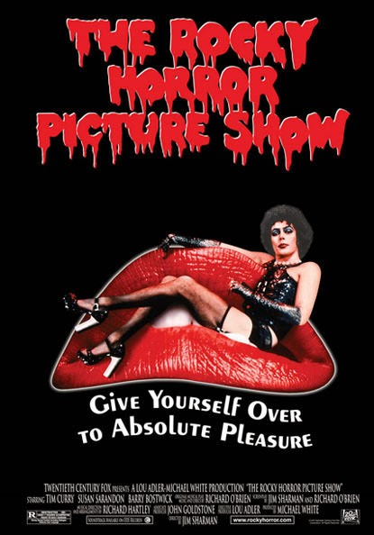 Portada pelicula Rocky Horror Picture Show Tim Curry Sofa