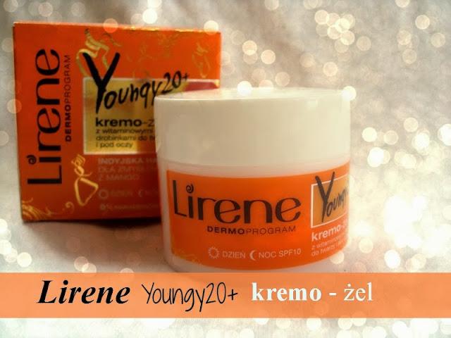 Lirene Dermoprogram, Youngy 20+, Kremo - żel z witaminowymi drobinkami do twarzy i pod oczy