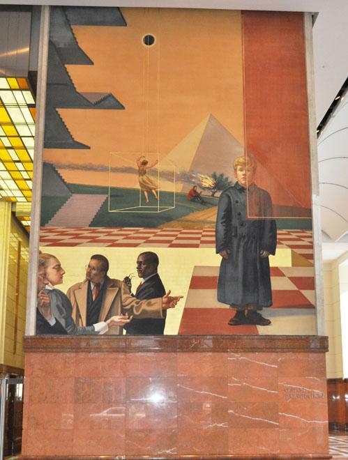bank of america murals - bank of america charlotte