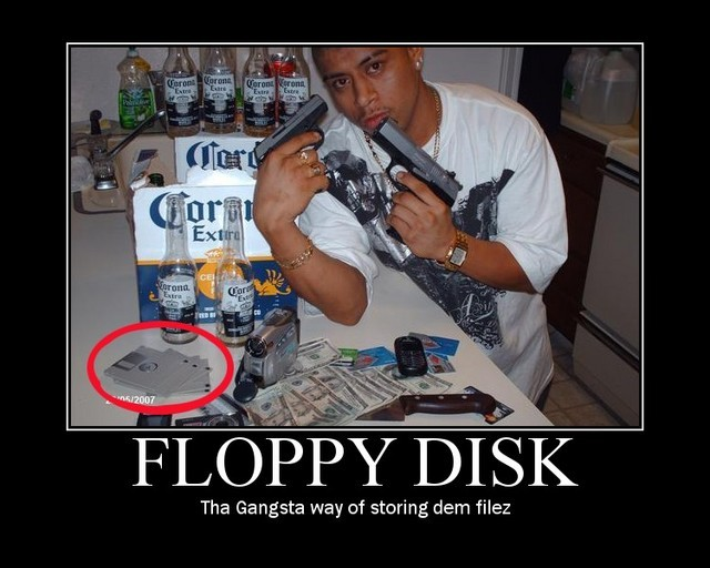 Gangsta with floppy disks