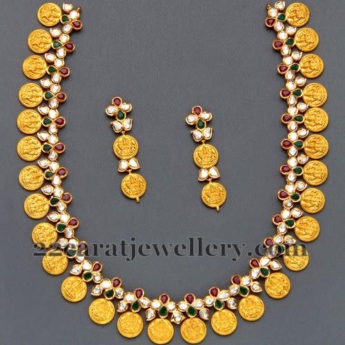 Mangatrai S Polki Kasu Mala Jewellery Designs