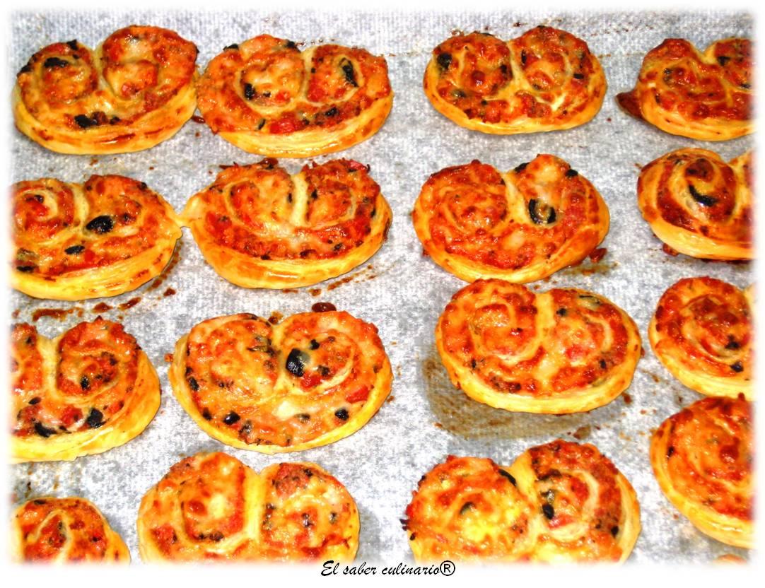 Palmeritas de pizza | El Saber Culinario