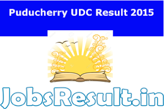 Puducherry UDC Result 2015