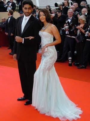 Aishwarya Rai Cannes with hubby Abhishek