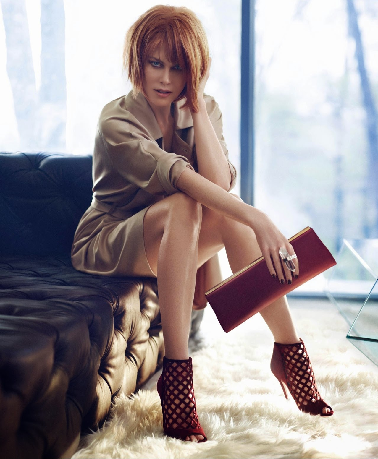 Nicole Kidman modelling some sexy shoes