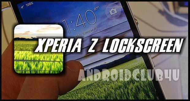 Xperia Z Lockscreen v1.1.0 (Ad- Free) Apk full download