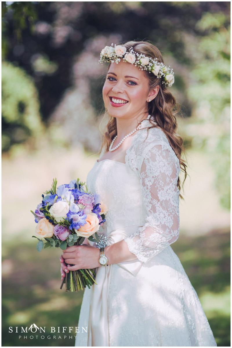 Roughmoor Farm wedding bride portrait